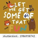 vector wild animal illustration ... | Shutterstock .eps vector #1986958742