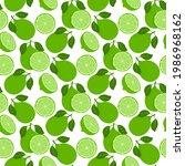 lemon fruits seamless pattern....   Shutterstock .eps vector #1986968162