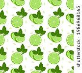 lemon fruits seamless pattern....   Shutterstock .eps vector #1986968165