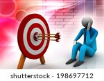 3d illustration of archery... | Shutterstock . vector #198697712