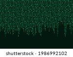 binary code seamless vector...   Shutterstock .eps vector #1986992102