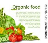 vegetable organic food set of... | Shutterstock .eps vector #198700412