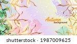 autumn gentle background with...   Shutterstock .eps vector #1987009625