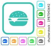 single cheeseburger vivid... | Shutterstock .eps vector #1987043642