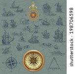 old pirate map | Shutterstock . vector #198706598
