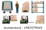 a set of vector images isolated ...   Shutterstock .eps vector #1987079045