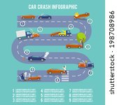 car crash infographic set with...   Shutterstock .eps vector #198708986