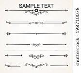 set calligraphic design...   Shutterstock .eps vector #198710078