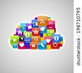 cloud computing icon. ... | Shutterstock . vector #198710795