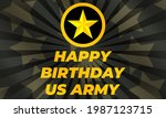 u.s. army birthday june 14.... | Shutterstock .eps vector #1987123715