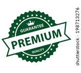 green vintage style guarantee...   Shutterstock . vector #198713276