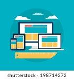 vector responsive web design... | Shutterstock .eps vector #198714272