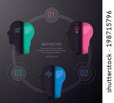 bulb inspiration info graphic...   Shutterstock .eps vector #198715796