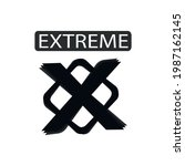 extreme sport sign icon ...   Shutterstock .eps vector #1987162145
