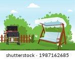 patio flat vector illustration. ...   Shutterstock .eps vector #1987162685