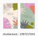 set of insta story templates...   Shutterstock .eps vector #1987217042