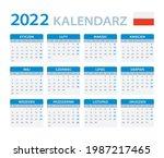 2022 calendar   vector template ... | Shutterstock .eps vector #1987217465