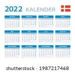 2022 calendar   vector template ... | Shutterstock .eps vector #1987217468