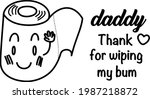 first 1st fathers day funny dad ... | Shutterstock .eps vector #1987218872