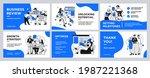presentation and slide layout... | Shutterstock .eps vector #1987221368