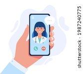 online medicine concept vector... | Shutterstock .eps vector #1987240775