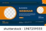 business webinar banner... | Shutterstock .eps vector #1987259555