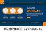 business webinar banner... | Shutterstock .eps vector #1987265762
