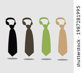 tie icon in trendy flat style...