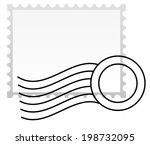postage stamp with rubber stamp. | Shutterstock .eps vector #198732095