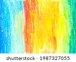 crayon draw on white paper...   Shutterstock . vector #1987327055