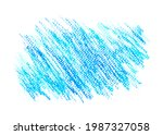 crayon draw on white paper...   Shutterstock . vector #1987327058