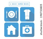 icon of four basic human needs  ... | Shutterstock .eps vector #198733805