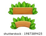 set wooden plank  billboard ...   Shutterstock .eps vector #1987389425