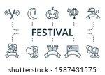 Festival Icon Set. Contains...
