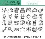 sweets vector icon set. ... | Shutterstock .eps vector #1987454645