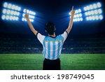 backside of argentine soccer... | Shutterstock . vector #198749045
