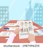 visualize with business...   Shutterstock .eps vector #1987496255