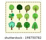 cute tree icon set | Shutterstock .eps vector #198750782