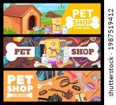 pet shop banners  dog pet care... | Shutterstock .eps vector #1987519412