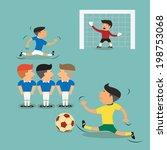 brazil argentina soccer players ... | Shutterstock .eps vector #198753068
