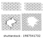 Set Of Brick Wall.  Ollection...