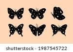 celestial butterfly hand drawn...   Shutterstock .eps vector #1987545722