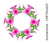 Summer Round Floral Wreath With ...