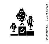 fishing tournament black glyph... | Shutterstock .eps vector #1987563425