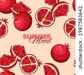 garnet seamless pattern. summer ...   Shutterstock .eps vector #1987583642