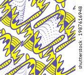 unusual psychedelic abstract... | Shutterstock .eps vector #1987616948