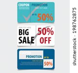 sale coupon  voucher  tag.... | Shutterstock .eps vector #198762875