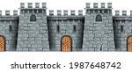 seamless castle wall background ...   Shutterstock .eps vector #1987648742