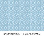 the geometric pattern with...   Shutterstock .eps vector #1987669952