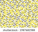 illuminating yellow and...   Shutterstock .eps vector #1987682588